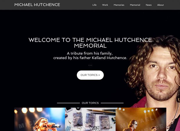 Official Michael Hutchence Memorial Website